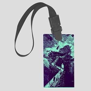 moonship-turquoise Large Luggage Tag