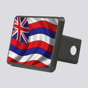 hawaii_flag Rectangular Hitch Cover