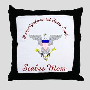 seabee mom Throw Pillow