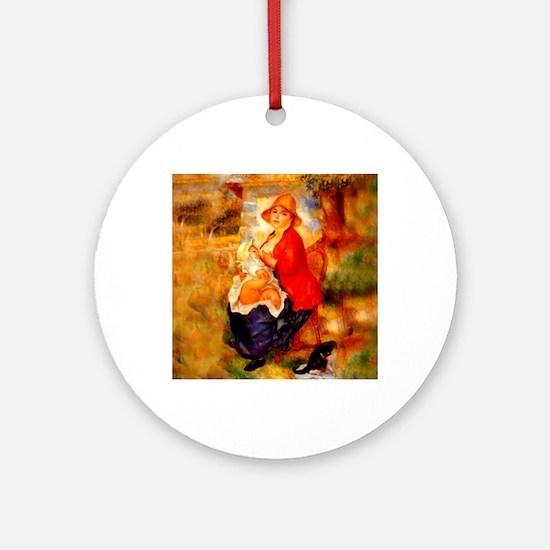 Nursing Mother Round Ornament