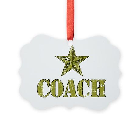 Coach Generals Star Picture Ornament