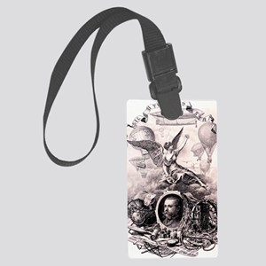 Victorian Explorer Frontispiece Large Luggage Tag