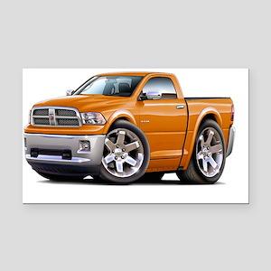 2010-12 Ram Orange Truck Rectangle Car Magnet