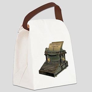 Antique Typewriter Canvas Lunch Bag