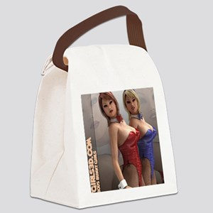 HotGirls3D Sexy Bunny Girls Canvas Lunch Bag