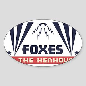 faux-henhouse-HAT Sticker (Oval)