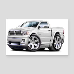 2010-12 Ram White Truck Rectangle Car Magnet