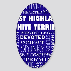 WESTIE_edited-1 Sticker (Oval)