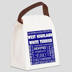 WESTIE_edited-1 Canvas Lunch Bag