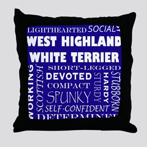 WESTIE_edited-1 Throw Pillow