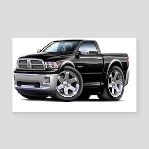 2010-12 Ram Black Truck Rectangle Car Magnet