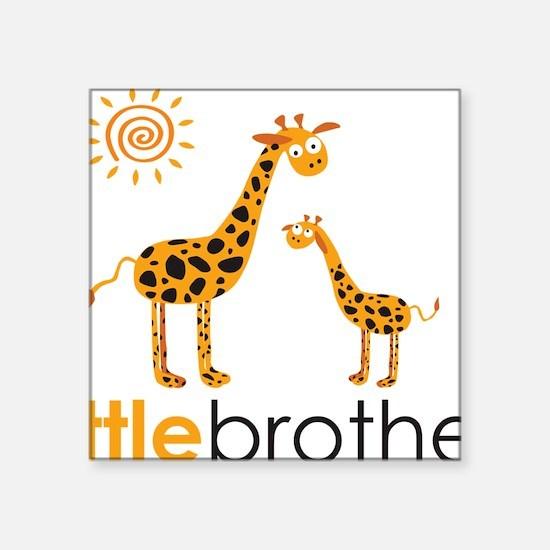 "GiraffeLittleBrother Square Sticker 3"" x 3"""