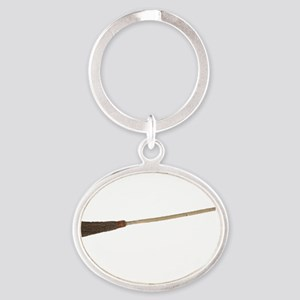 Drive a Stick - White Text Oval Keychain