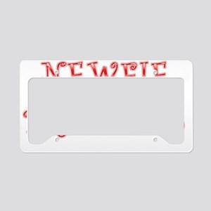 Newfie Princess License Plate Holder
