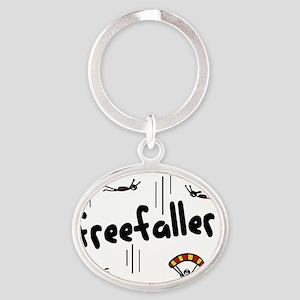 freefaller Oval Keychain