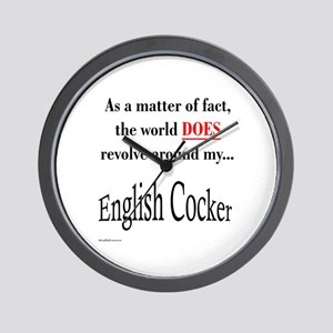 English Cocker World Wall Clock