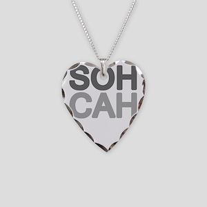 soh cah toa light Necklace Heart Charm