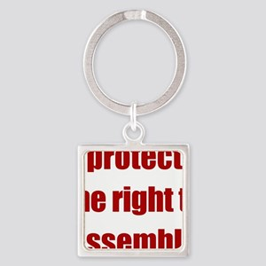 right_to_assemble Square Keychain
