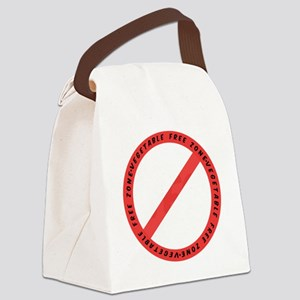 Vegetable free zone light Canvas Lunch Bag