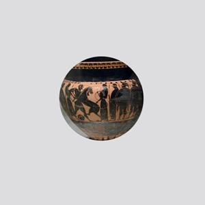 Krater painted with black figures repr Mini Button