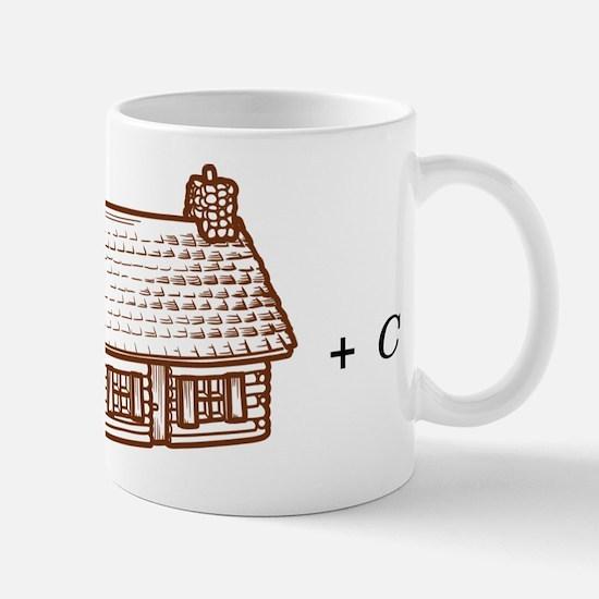 log(cabin) outline Mug