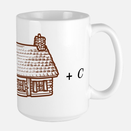 log(cabin) outline Large Mug