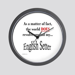 English Setter World Wall Clock
