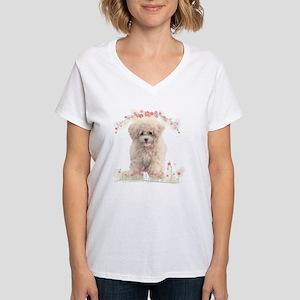 flowers2 Women's V-Neck T-Shirt
