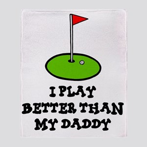 I play golf kids Throw Blanket