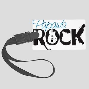 Papaws Rock Large Luggage Tag