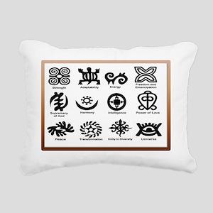 Adinkras in Frame Rectangular Canvas Pillow