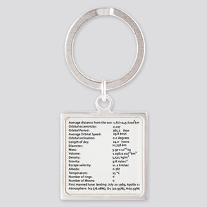 Earth Facts-blackLetters copy Square Keychain