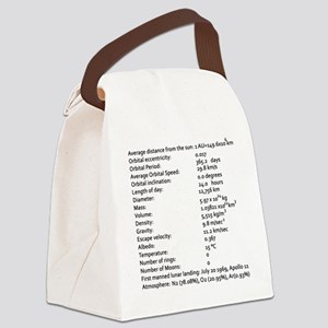 Earth Facts-blackLetters copy Canvas Lunch Bag