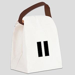 PauseBlack Canvas Lunch Bag