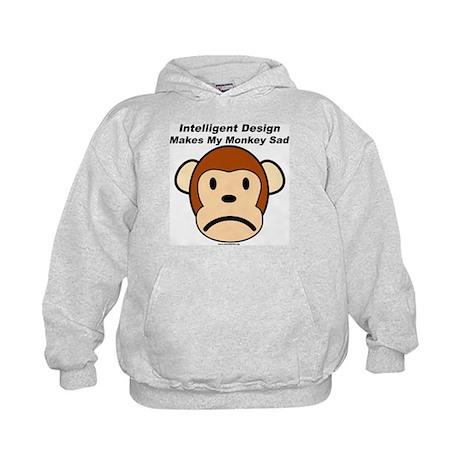 Intelligent Design Makes My Monkey Sad Kids Hoodie