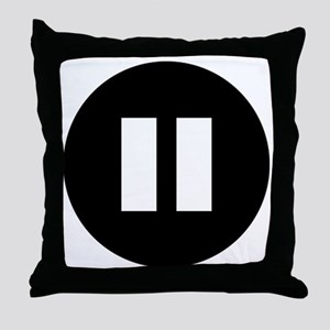 PauseWhite Throw Pillow