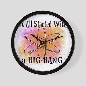 started big bang Wall Clock