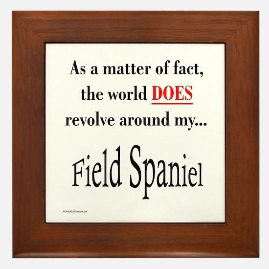 Field Spaniel World Framed Tile