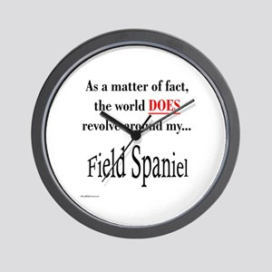 Field Spaniel World Wall Clock