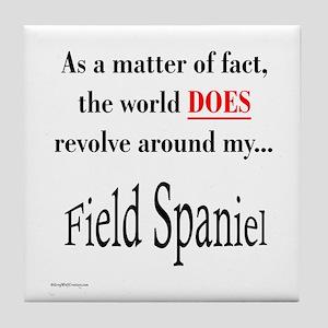 Field Spaniel World Tile Coaster