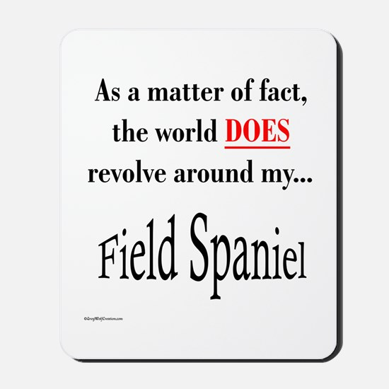 Field Spaniel World Mousepad