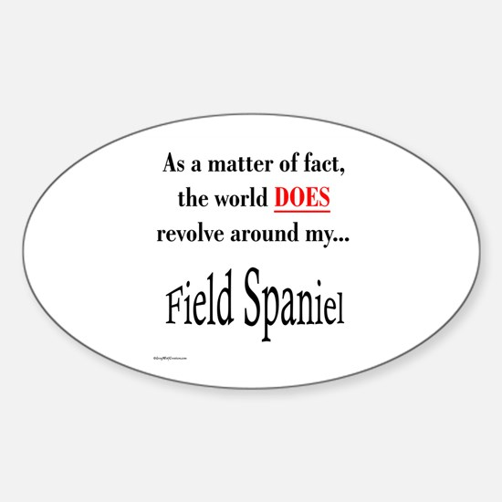 Field Spaniel World Oval Decal