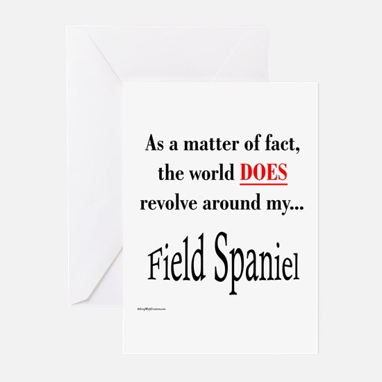 Field Spaniel World Greeting Cards (Pk of 10)