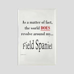 Field Spaniel World Rectangle Magnet