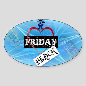 I Love Black Friday-Yardsign Sticker (Oval)