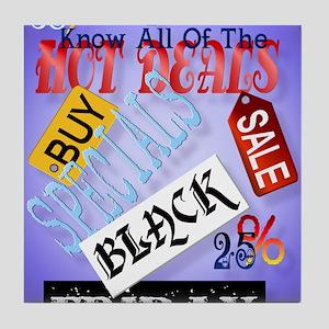 Hot Deals-Black Friday PosterP Tile Coaster