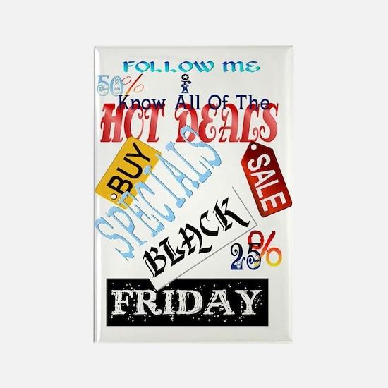 Hot Deals-Black Friday Trans Rectangle Magnet
