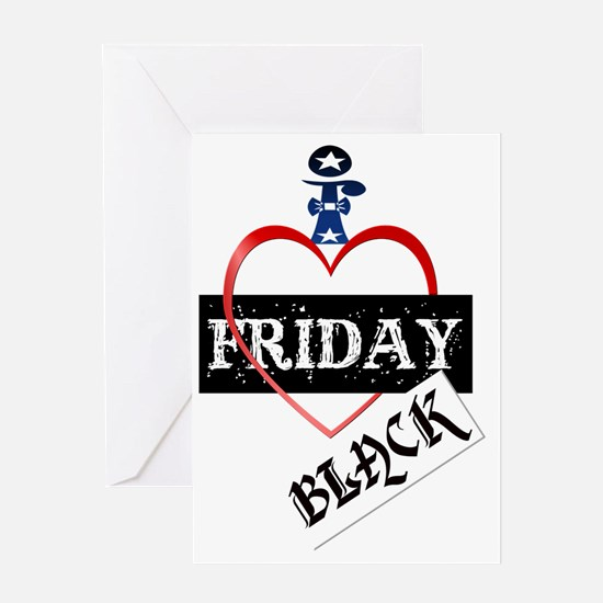 I Love Black Friday Trans Greeting Card