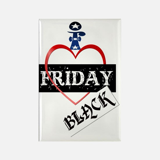 I Love Black Friday Trans Rectangle Magnet
