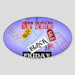 Follow Me-Black Friday-Yardsign Sticker (Oval)
